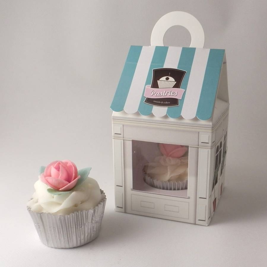 Cupcake Boxes Pastries Shop Design Pack Of Four By Bunting Barrow
