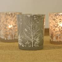 set of two christmas tree tea light holders by the wedding ...