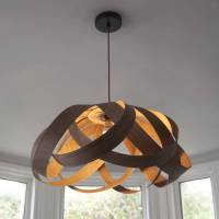 wooden daisy pendant lampshade by randomlights