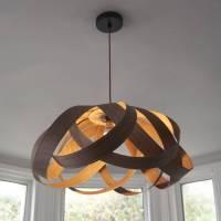 wooden daisy pendant lampshade by randomlights ...