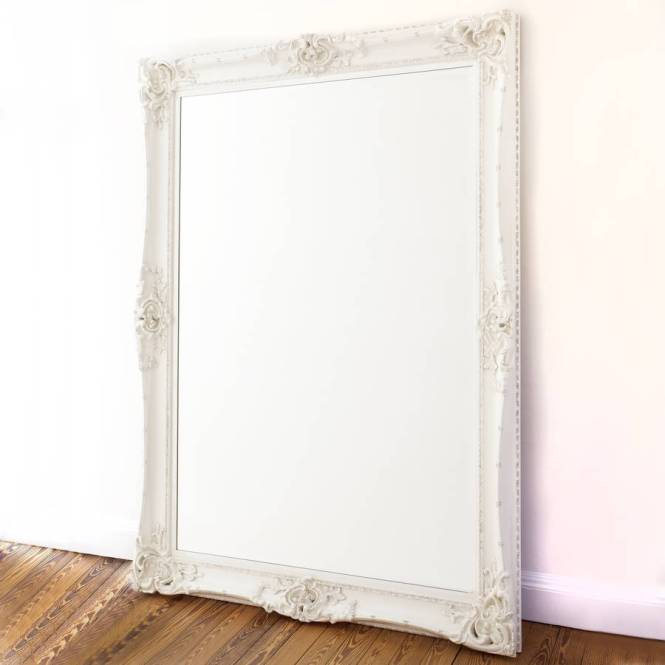 white decorative mirror - decorating ideas
