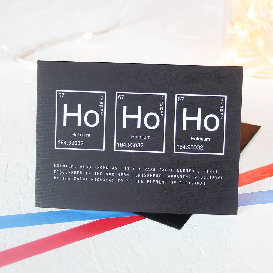 Christmas Periodic Table Ho Ho Ho Card Packs By Newton And