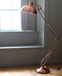 brushed copper angled floor lamp by the forest & co ...