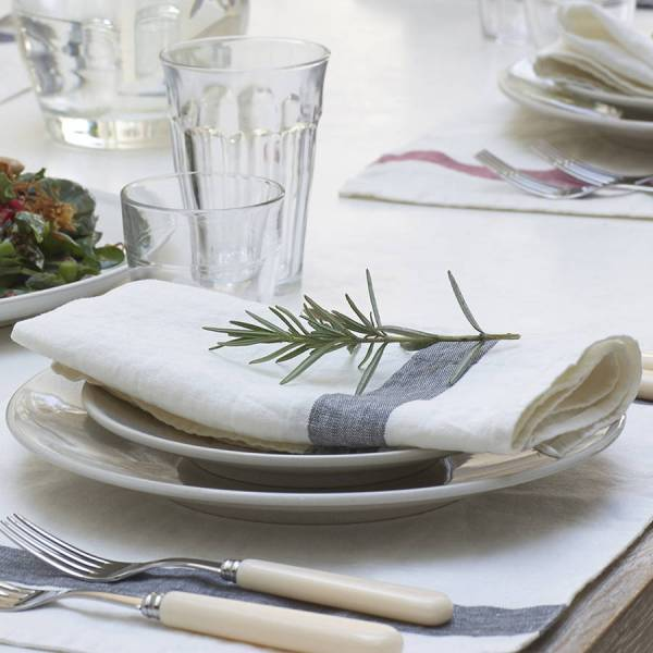 French Striped Linen Napkins