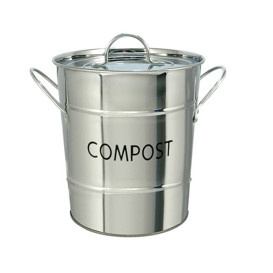 kitchen compost bin  stainless steel by garden selections