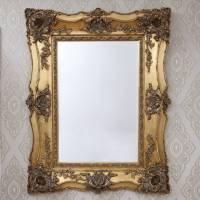 vintage ornate gold decorative mirror by decorative ...