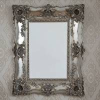 vintage ornate silver decorative mirror by decorative ...