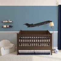 personalised airplane vinyl wall art by vinyl revolution ...