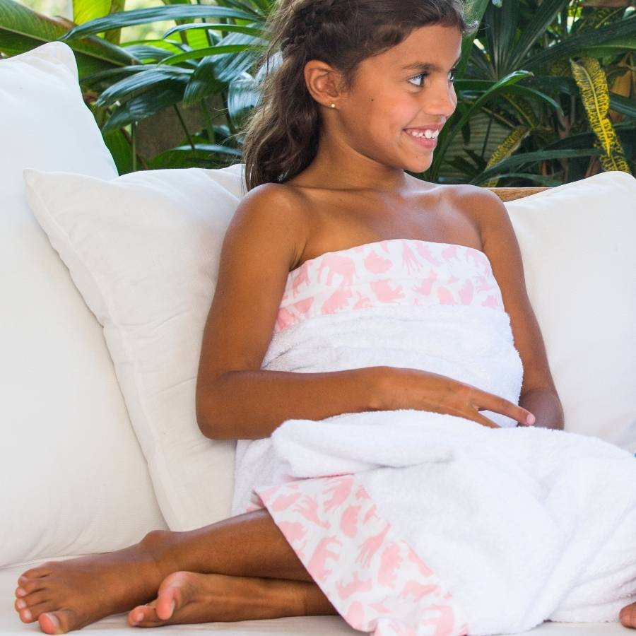 girls bath towels by emlu  notonthehighstreetcom
