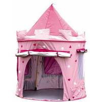 deluxe pink castle play tent by little ella james ...