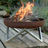 personalised yanartas steel fire pit by arpe studio uk ...