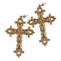 gabrielle vintage baroque cross earrings by rock 'n rose ...
