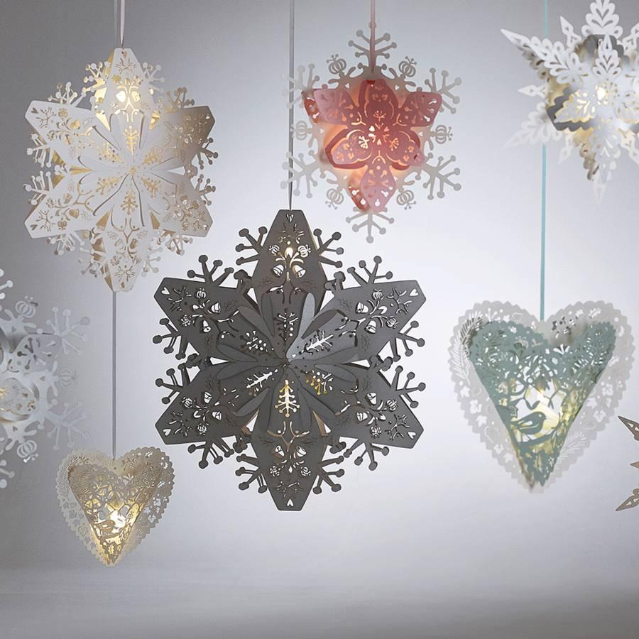 3d Snowflake Lanterns By The Hanging Lantern Company