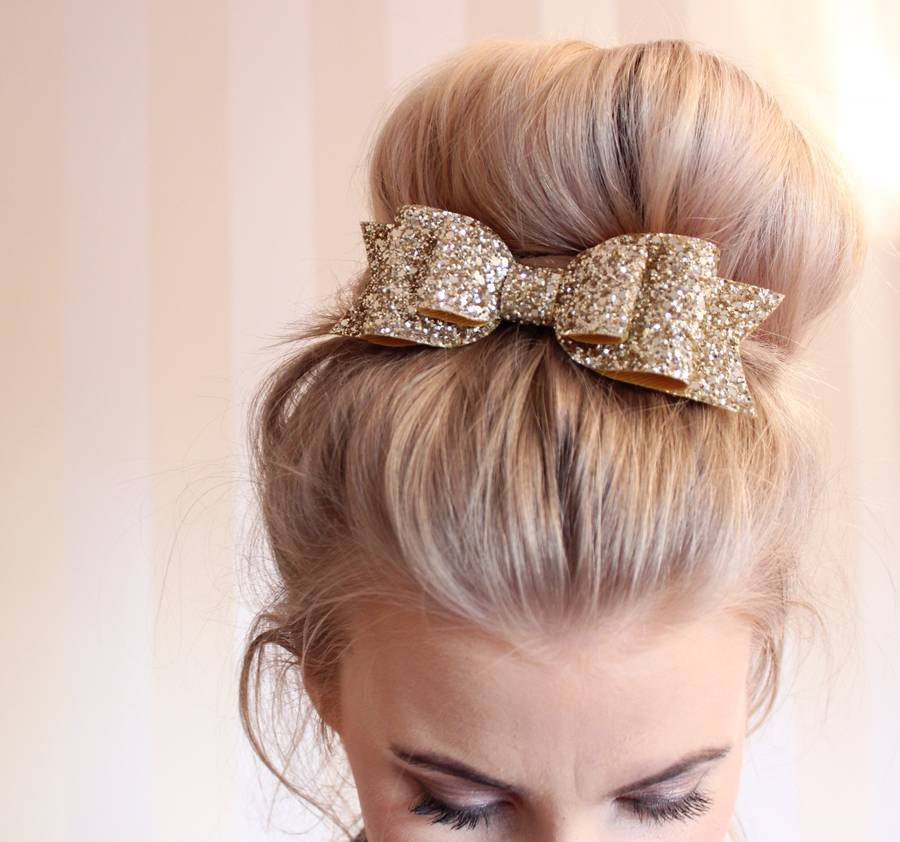 Oversized Glitter Hair Bow By Lovely Littles And Co