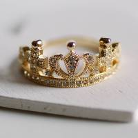 dainty crown ring by highland angel | notonthehighstreet.com