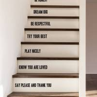 family rules stair stickers by oakdene designs ...