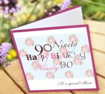 Free Printable 90th Birthday Cards