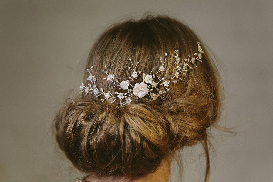 Sylvie Crystal And Pearl Wedding Hair Vine Bridal Comb By