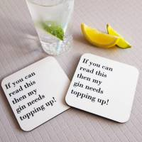 personalised fill my drink coaster by coconutgrass ...