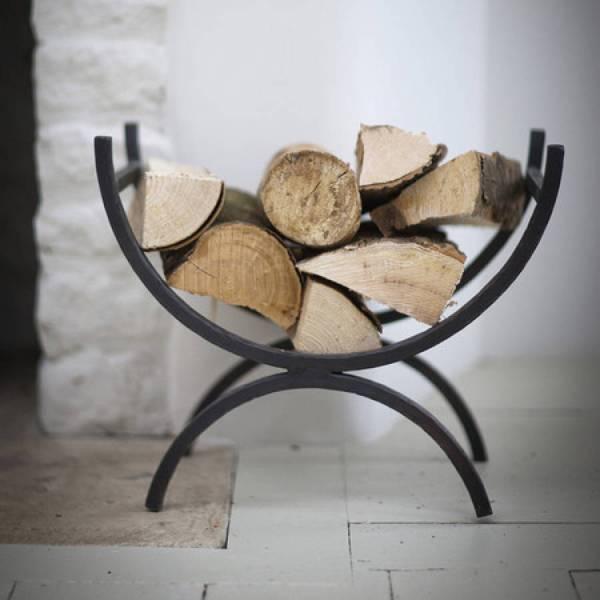 Wrought Iron Fireplace Log Holder
