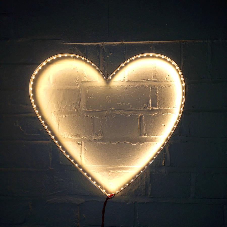 heart wall light by rawstudio  notonthehighstreetcom