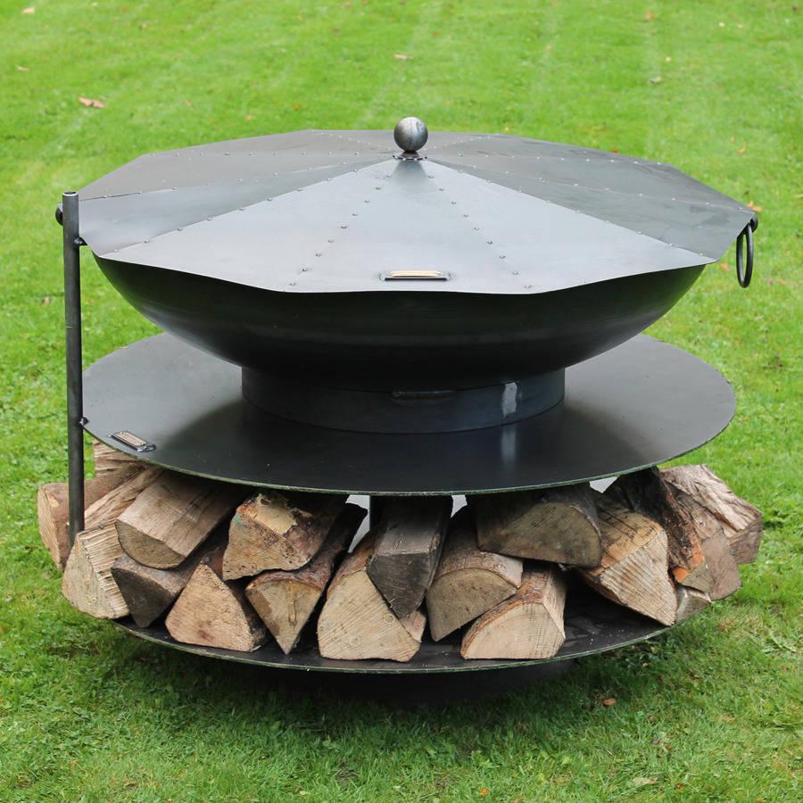ring of logs steel firepit by firepits uk