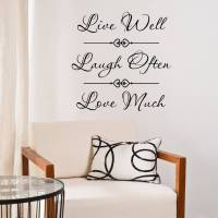live laugh love quote wall sticker by mirrorin ...