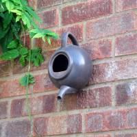 ceramic teapot bird nest box by garden selections ...