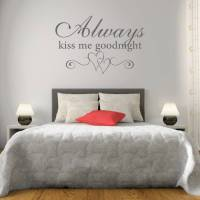 kiss me goodnight bedroom wall sticker by mirrorin ...