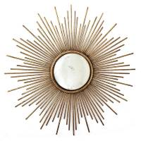 large gold sunburst wall mirror by ella james ...