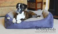 luxury faux suede dog bed by wolfybeds ...