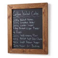 Framed Chalkboard For Kitchen Decoration Ideas Old Wood Blackboard By Horsfall & Wright ...