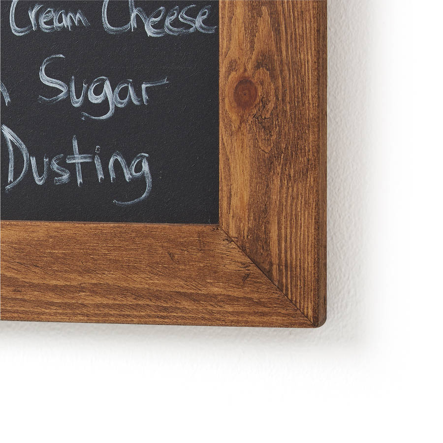 old wood framed chalkboard
