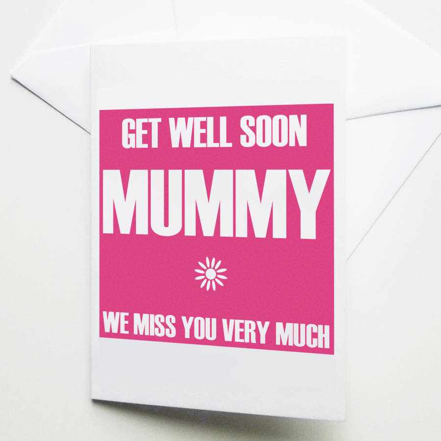 Personalised Statement 'get Well Soon' Card By Weasel And Stoat   notonthehighstreet.com