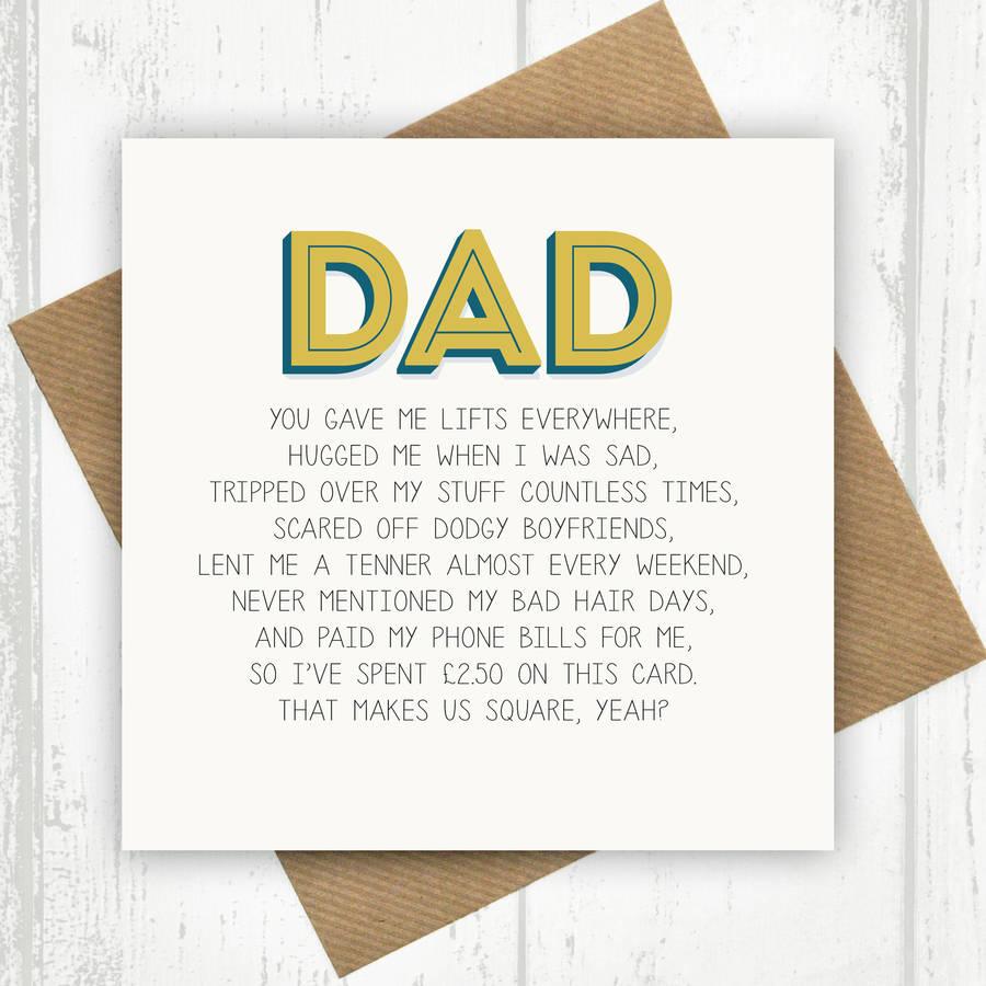 Dad Birthday Card By Paper Plane Notonthehighstreet Com