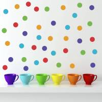 polka dot wall stickers by mirrorin