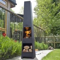 malmo chiminea patio heater and log store by oxford ...