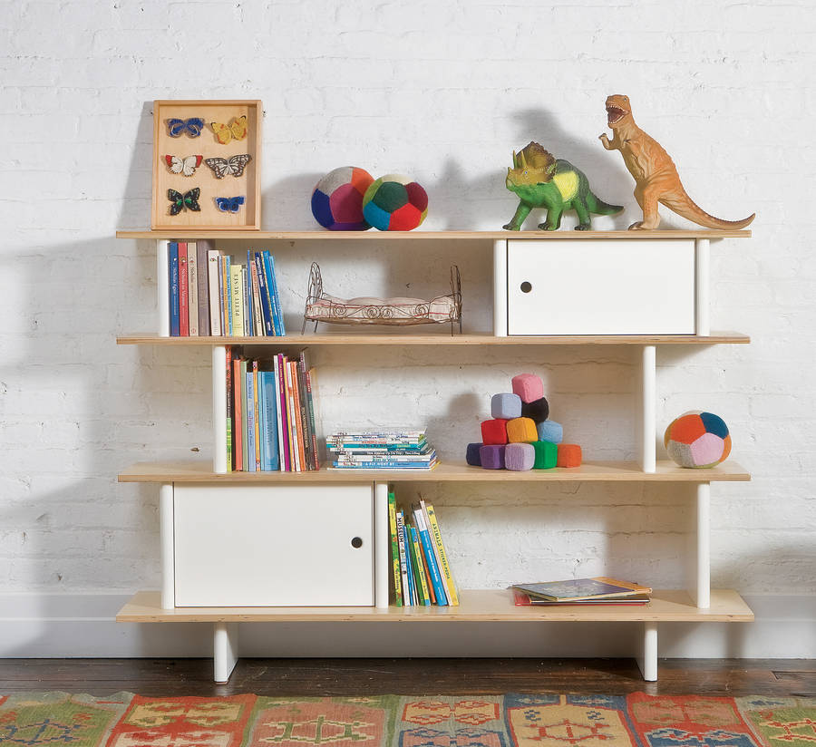 Childrens Modern Bookcase Unit By Nubie Modern Kids