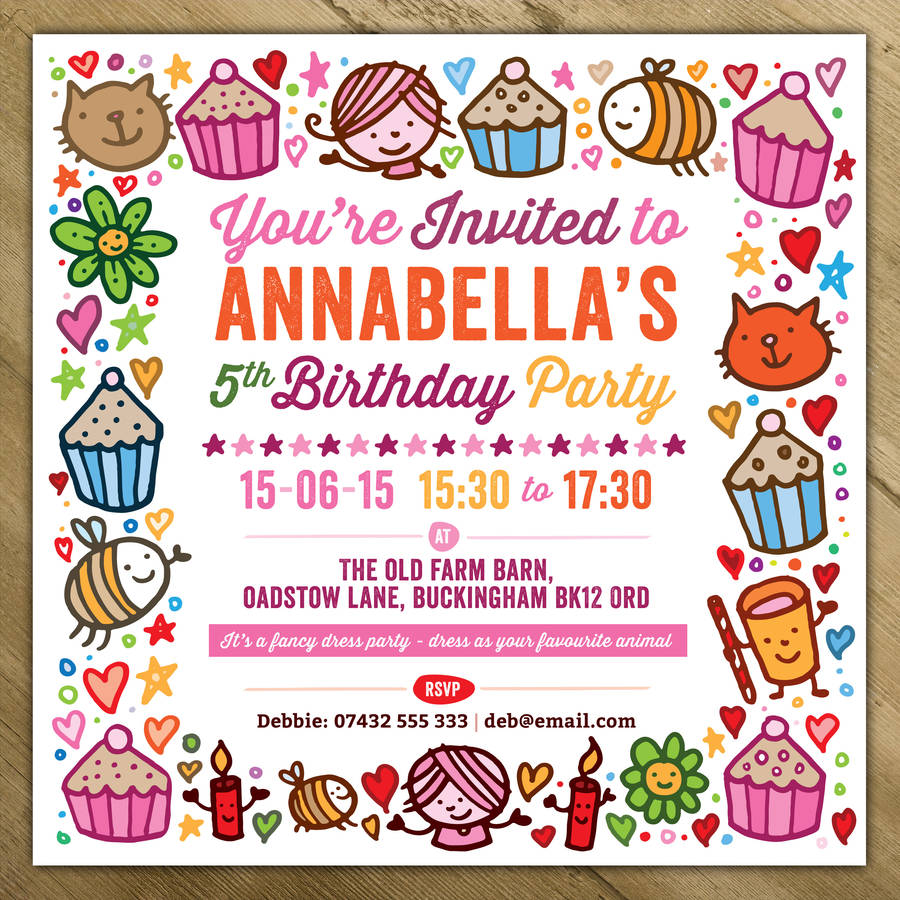 Personalised Childrens Invitations