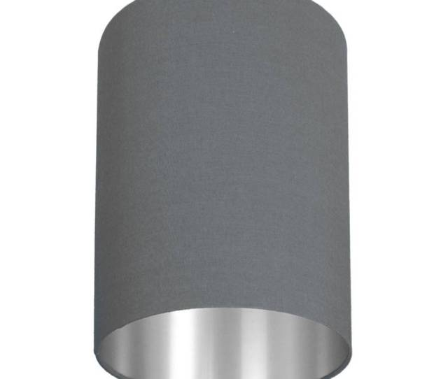 Brushed Silver Lined Lamp Shade 40 Colours