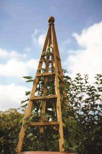 large wooden garden obelisk by garden selections ...