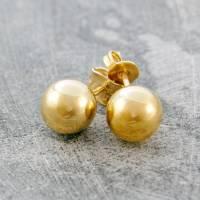 gold ball stud earrings by otis jaxon silver jewellery