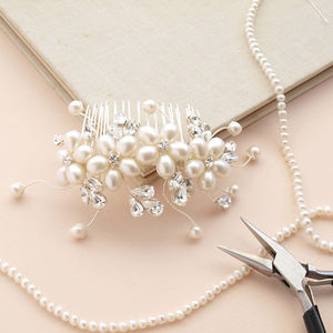 large dew pearl hair comb by jewellery made by me notonthehighstreet com