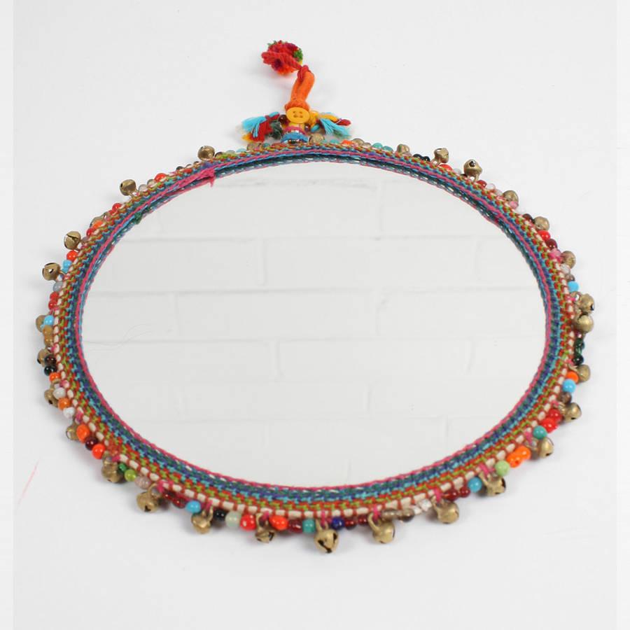 boho beaded mirror by bohemia