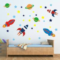 outer space wall sticker set by mirrorin ...
