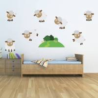 counting sheep kids wall stickers by mirrorin ...