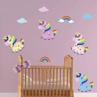 girls unicorn wall stickers by mirrorin ...