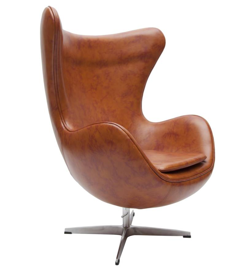 retro faux leather egg chair by i love retro