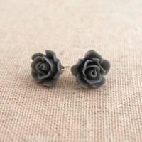 sterling silver vintage rose earrings by melissa morgan ...