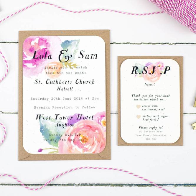 Great Wedding Invitations With Rsvp Cards Included 66 For Your Invitation Card